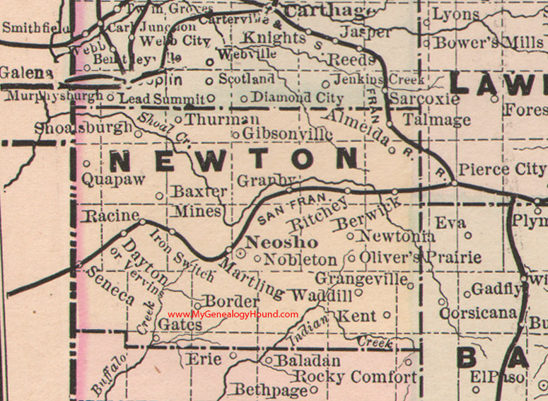 Newton County Missouri Map - Maps of mo