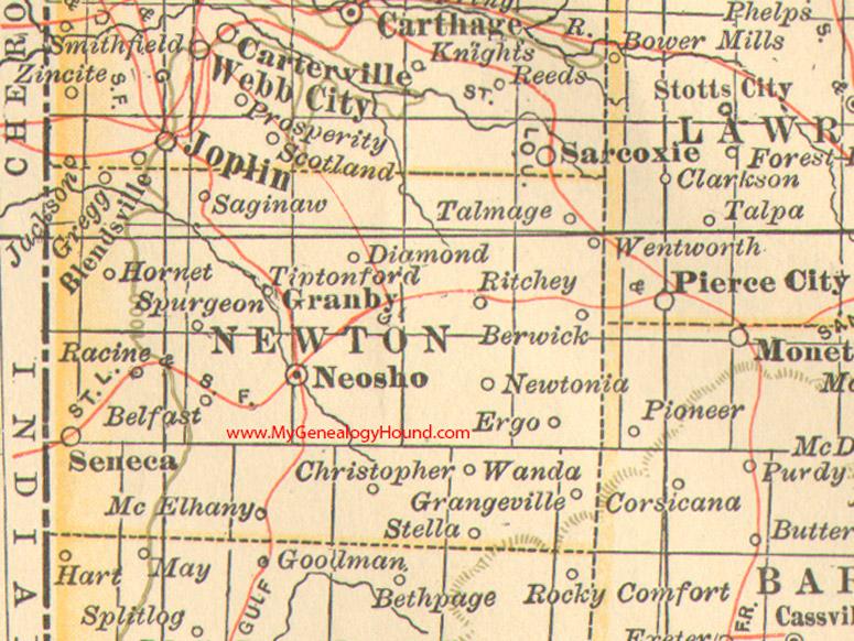 Newton County Missouri Map - Missouri maps