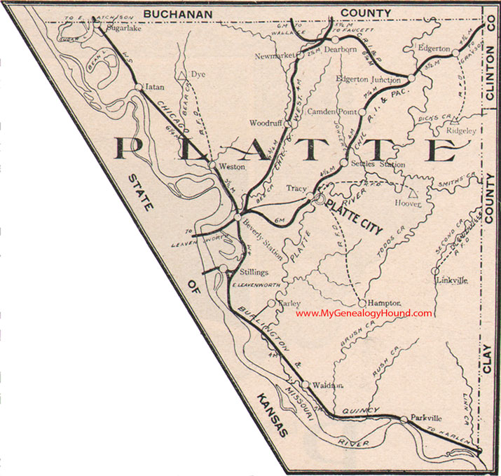 Platte County Missouri 1904 Map
