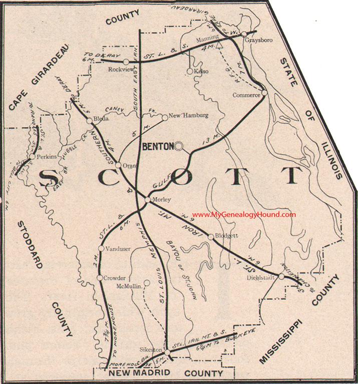 Scott County Missouri 1904 Map