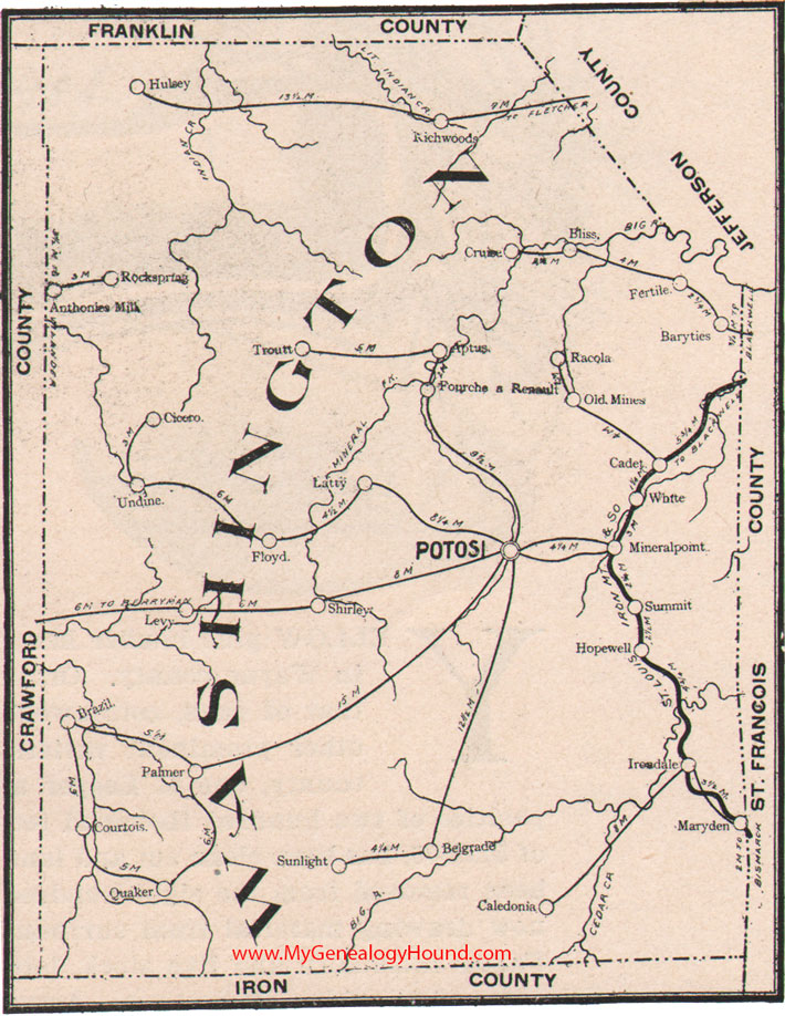 Washington County Missouri 1904 Map