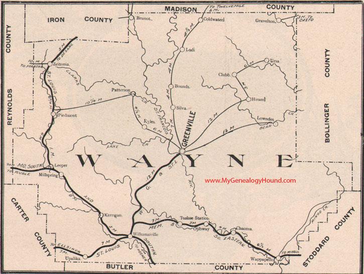 Wayne County Missouri 1904 Map