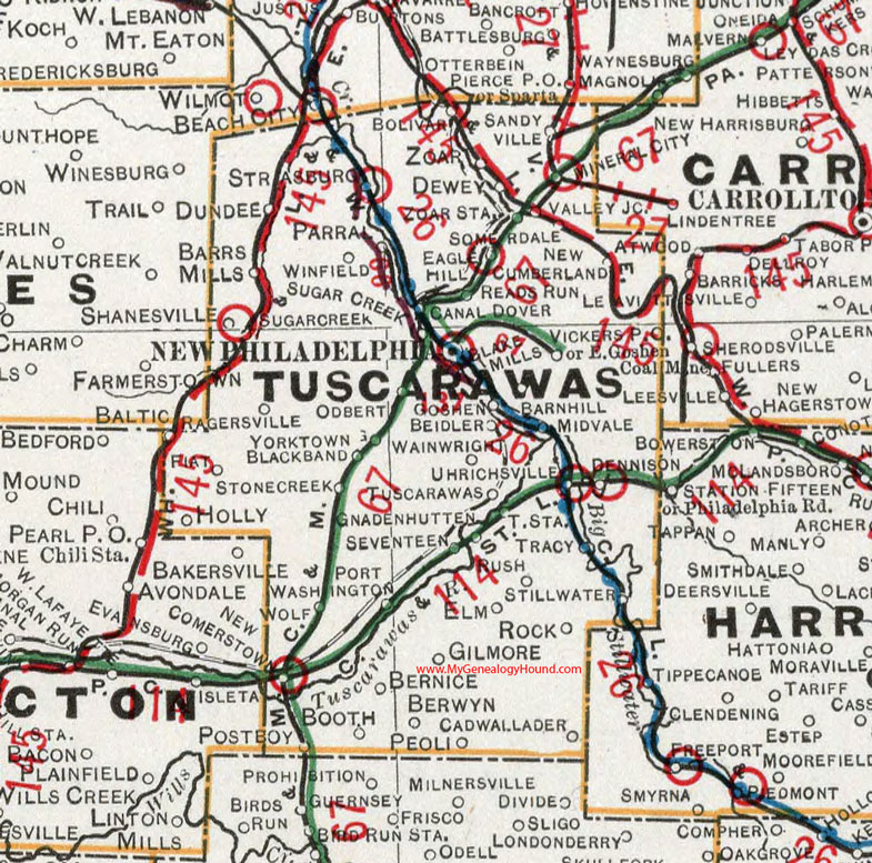 Newcomerstown Ohio Map.Tuscarawas County Ohio 1901 Map New Philadelphia Oh