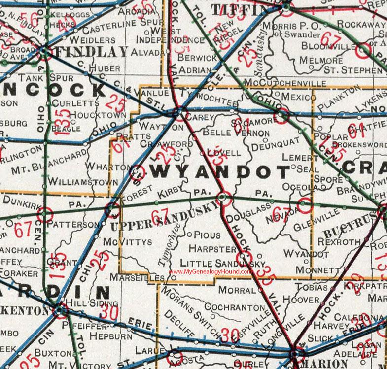 Wyandot County, Ohio 1901 Map, Upper Sandusky, OH on broadview heights map, marlette map, cedar point map, davison township map, masury map, burney map, rose city map, luna pier map, south vienna map, holmes map, new phila map, elida map, pickerington map, ohio map, st. ignace map, salem center map, jones valley map, west geauga map, cedartown map, blacklick map,