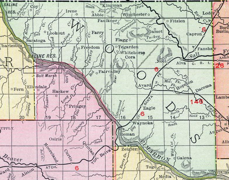 Woods County, Oklahoma 1911 Map, Rand McNally, Alva, Waynoka ... on sf va map, sw va map, co va map, ky va map, dc va map, no va map,
