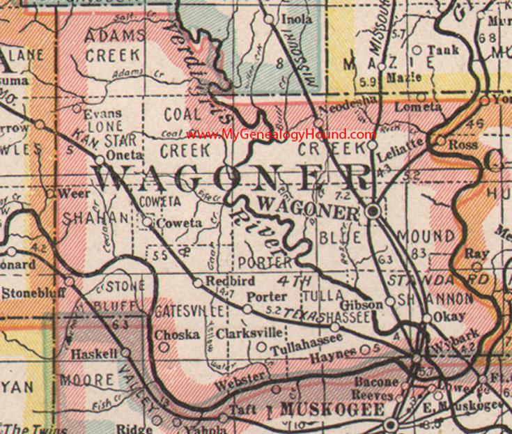 Inola Oklahoma Map.Wagoner County Oklahoma 1922 Map