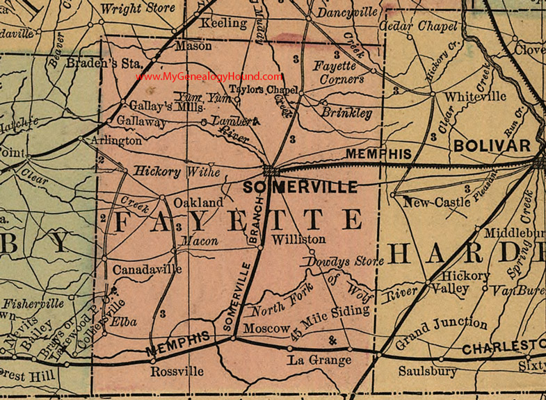Tn State Map With Counties.Fayette County Tennessee 1888 Map