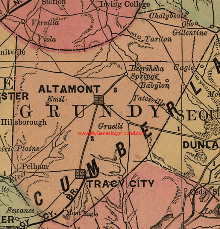 Grundy County Tennessee Map - Map of tn cities