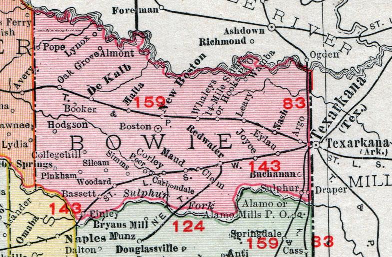 Bowie county texas 1911 map rand mcnally texarkana boston new bowie county texas 1911 map rand mcnally texarkana boston publicscrutiny Choice Image
