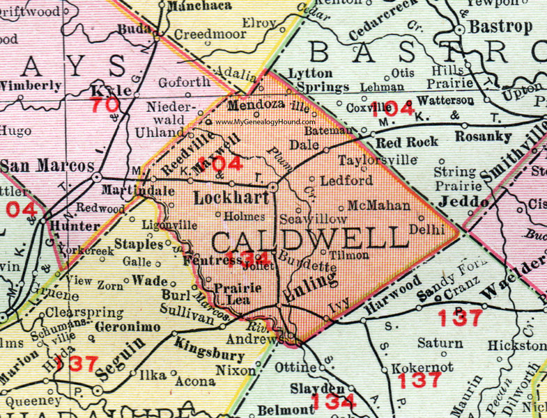 Caldwell County, Texas, Map, 1911, Lockhart, Luling, Mendoza ... on carlin county map, kerrville county map, kearney county map, copperas cove county map, pomeroy county map, sioux city county map, chariton county map, akron county map, brady county map, letcher county map, lodi county map, barnes county map, mercer county map, clay county map, westwood county map, englewood county map, schley county map, bastrop county map, elliott county map, candler county map,