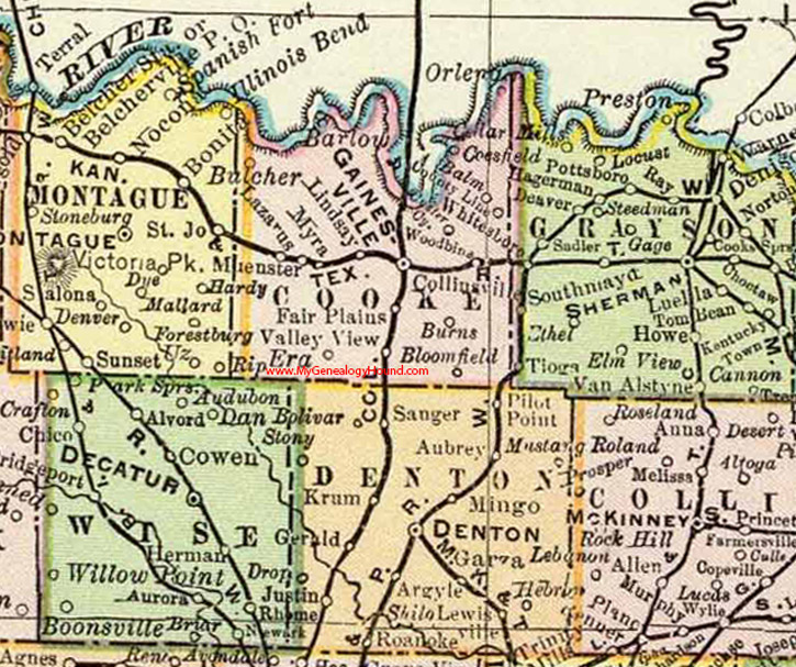 Valley View Texas Map