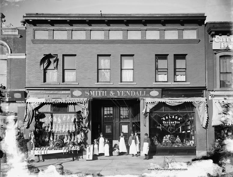 Detroit Michigan Smith And Yendall Store Butcher Shop Grocery Historic Photo