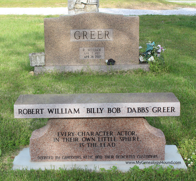 Robert William Quot Dabbs Greer Quot Grave And Tombstone Peace