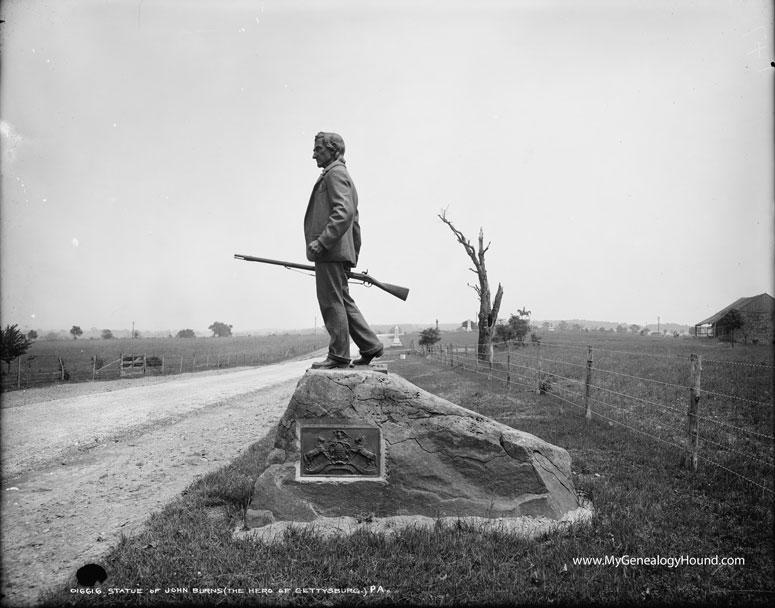 Gettysburg Pennsylvania John L Burns Old Hero Of
