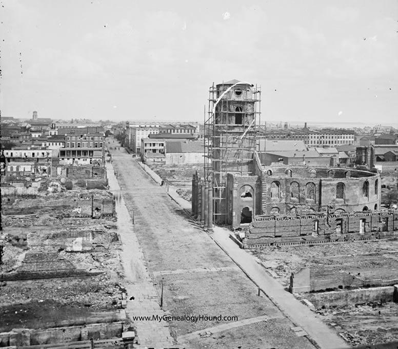 Charleston South Carolina Ruins Of Circular Church On Meeting Street 1865 Historic P O