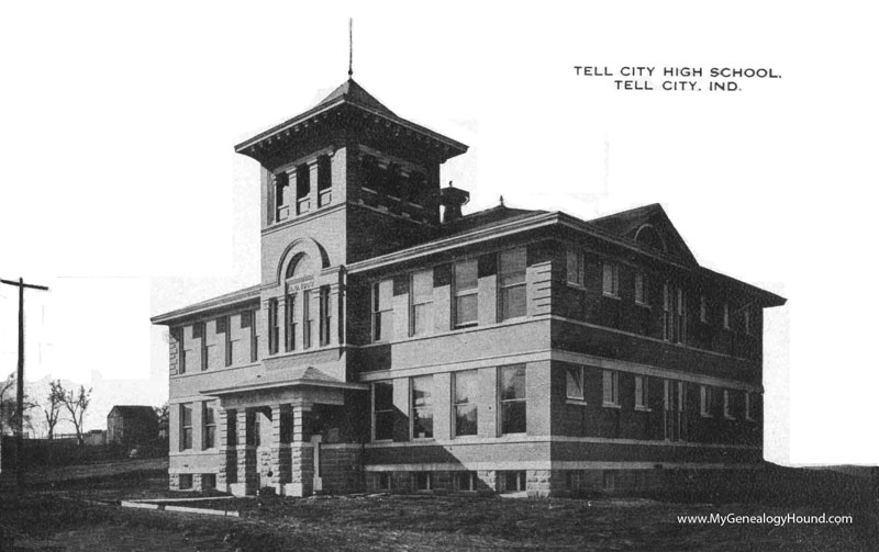 Tell City Indiana >> Tell City Indiana Tell City High School Vintage Postcard
