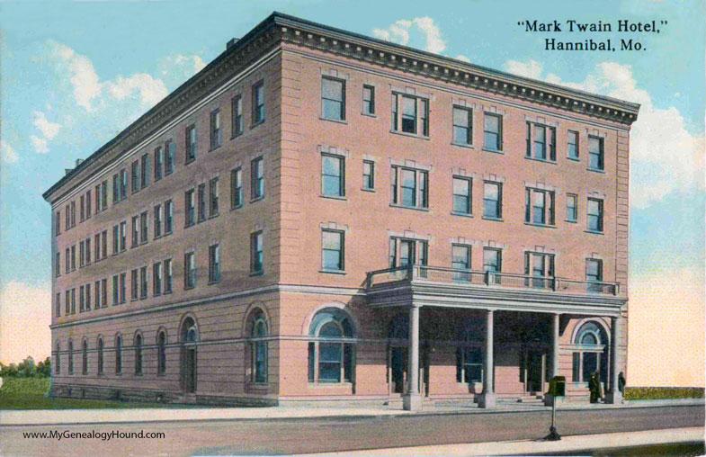 Mark Twain Hotel Hannibal Missouri Vintage Postcard Historic Photo 1931