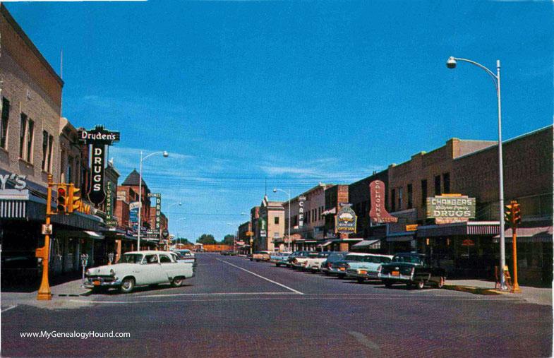 North Platte Nebraska Dewey Street Vintage Postcard Photo