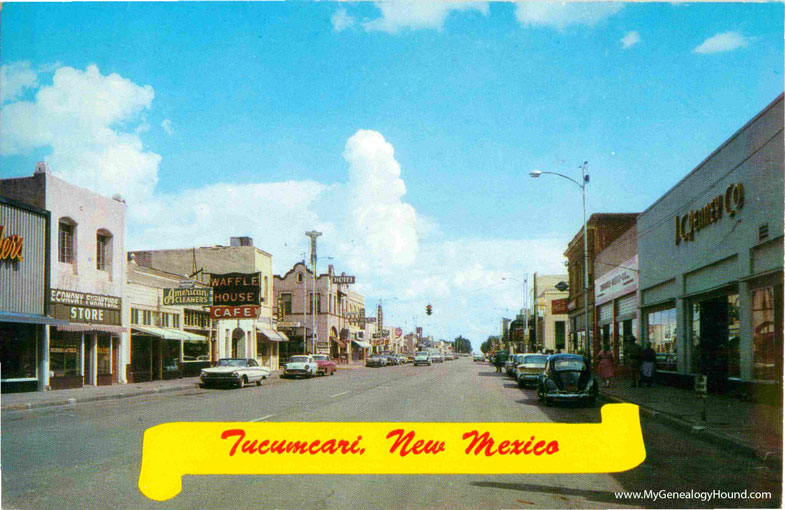 Tucumcari New Mexico Main Street In Downtown Vintage Postcard Photo