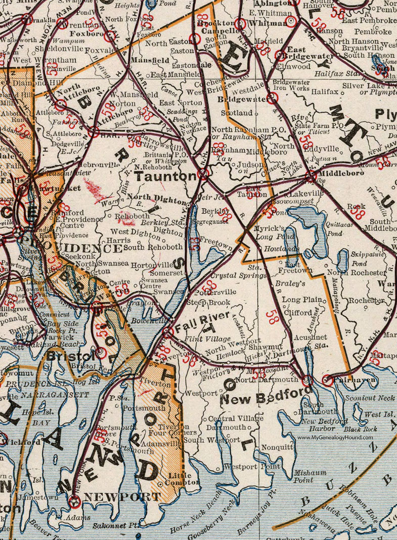 Bristol County, Massachusetts, 9, Map, Cram, Taunton, New