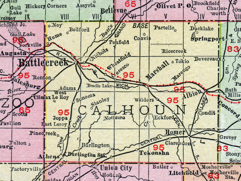 Calhoun County Mi Map on