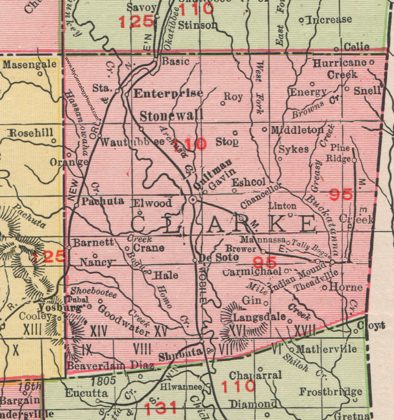 Clarke County, Mississippi, 1911, Map, Rand McNally, Quitman ... on las vegas valley map, william clark map, clark island map, clark school map, clark sd map, north las vegas map, clark colorado map, las vegas township map, nevada map, sandy valley map, ohio map,