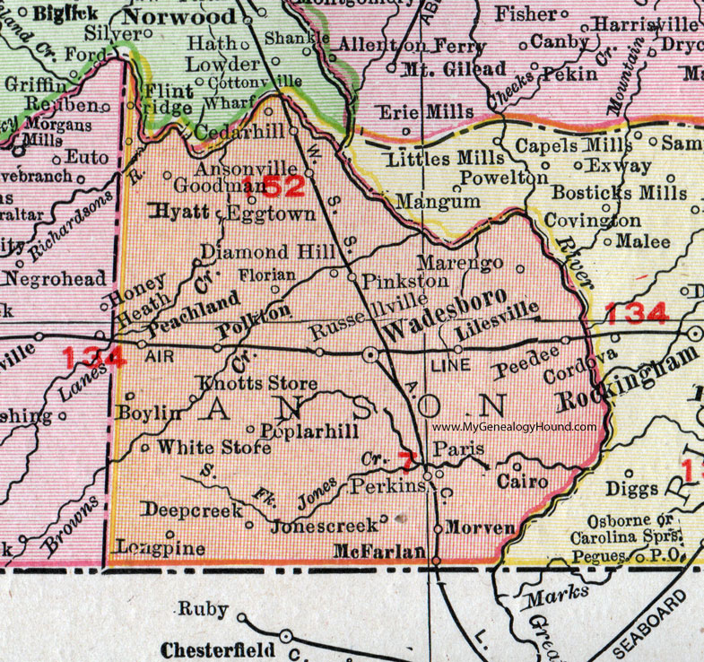 Anson County, North Carolina, 1911, Map, Rand McNally ... on map of gastonia nc, map of salisbury nc, map of granite quarry nc, map of high point nc, map of albemarle nc, map of new bern nc, map of pittsboro nc, map of concord nc, map of indian trail nc, map of hillsborough nc, map of monroe nc, map of cary nc, map of lancaster county sc, map of north carolina, map of pineville nc, map of high rock lake nc, map of fayetteville nc, map of wesley chapel nc, map of maxton nc, map of lincolnton nc,