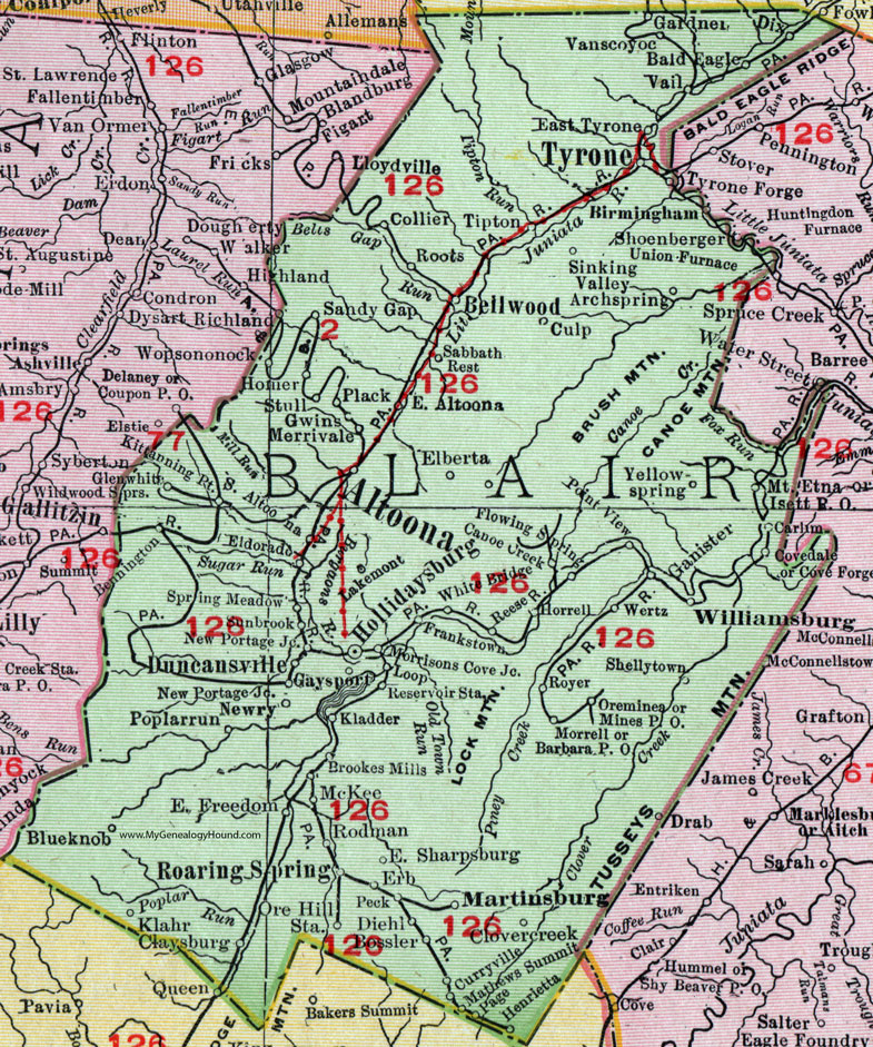 Blair County, Pennsylvania 1911 Map by Rand McNally ... on map of new paris pa, map of loganville pa, map of shamokin dam pa, map of upper st clair pa, map of throop pa, map of narberth pa, map of berkshire pa, map of wilburton pa, map of lawrence park pa, map of newry pa, map of point marion pa, map of saint marys pa, map of mahaffey pa, map of schellsburg pa, map of mount union pa, map of armagh pa, map of russellton pa, map of madison pa, map of norwood pa, map of spring mills pa,
