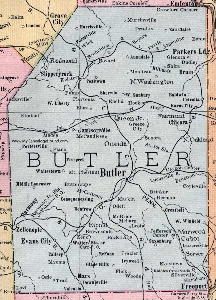 Butler County, Pennsylvania 1911 Map by Rand McNally, Oneida ... on central pa map, chester pa map, pa topo map, lancaster pa map, pa municipal map, pa township map, pa zip code map, fenelton pa map, york pa area map, lehighton pa map, penndot district map, pa elevation map, pa highway map, pa wmu map, pa region map, pa state map, pa river map, pa city map, clarion pa map, ebensburg pa map,