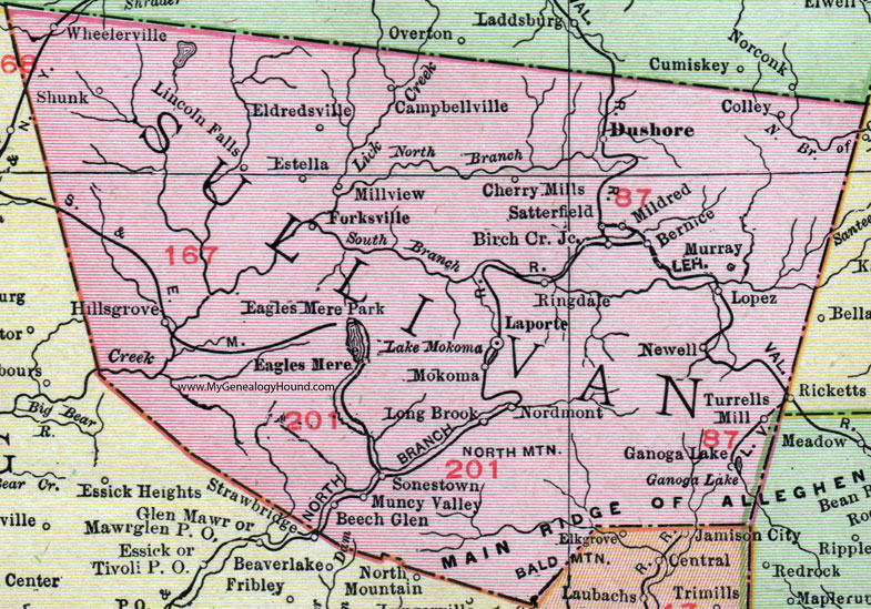 Ge County Map on