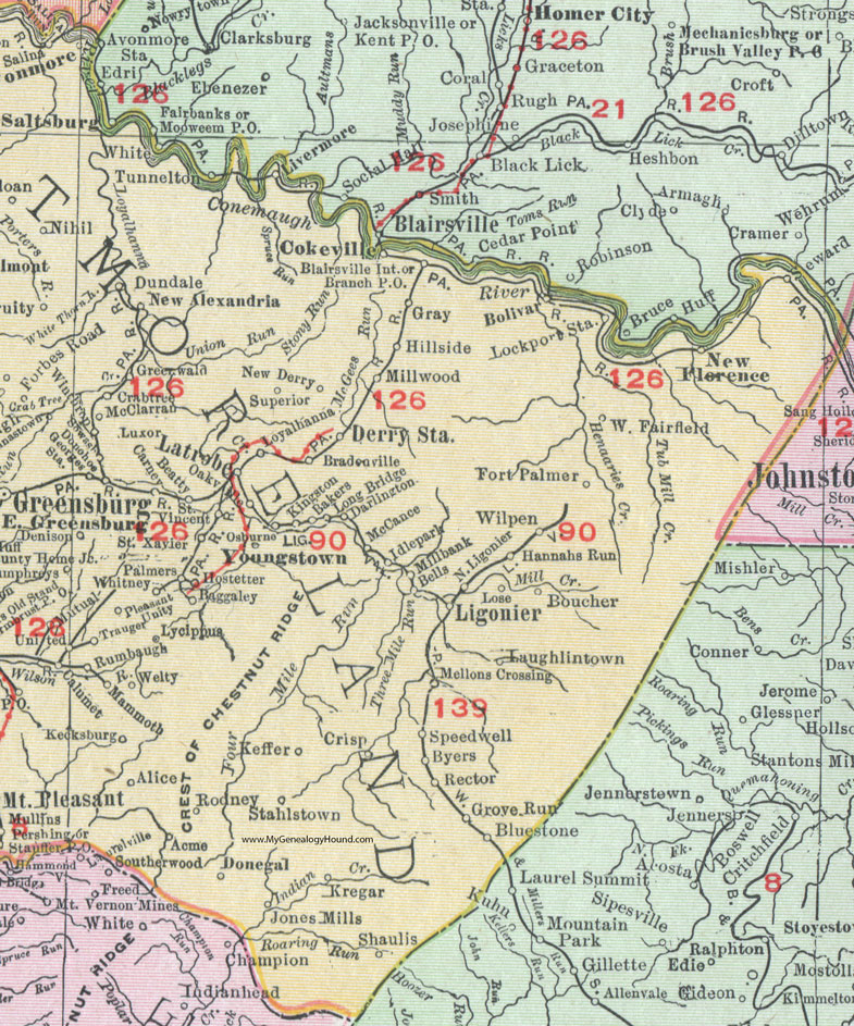 Westmoreland County, Pennsylvania 1911 Map by Rand McNally ... on map of coal center pa, map of madison pa, map of york pa, map of castanea pa, map of berkshire pa, map of ford city pa, map of webster pa, map of avella pa, map of norwich pa, map of washington pa, map of ambler pa, map of chalk hill pa, map of avis pa, map of new bloomfield pa, map of scotland pa, map of new alexandria pa, map of cardiff pa, map of armagh pa, map of drifton pa, map of ford cliff pa,