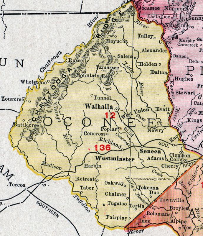 Oconee County, South Carolina, 1911, Map, Rand McNally ... on sc colony map, south carolina road map, sc legislature map, sc precinct map, upstate sc zip code map, sc cities map, sc zone map, lexington sc map, hemingway sc map, sc national forest map, clemson sc on map, sc florida map, ridgeville sc map, sc water map, sc map with counties, sc rivers map, pickens sc map, camden sc map, sc city map, sc state map,