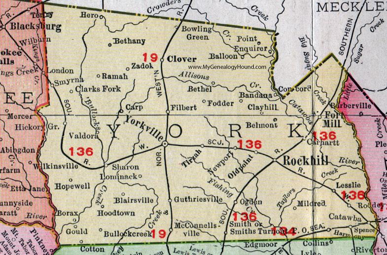 York County, South Carolina, 1911, Map, Rand McNally, City of York on york beach map, york penn map, lancaster pa map, houston precinct map, franklin new york map, york city map, york england map, york maine map, york college map, pittsburgh school district map, york region map, conestoga river map, york state map, york river map, chanceford township map, york pa map, new york counties map,