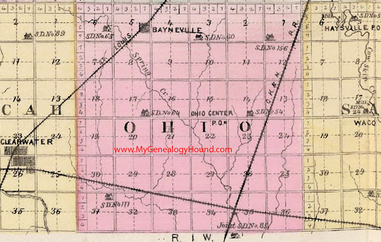 Ohio Township Map Ohio Township, Sedgwick County, Kansas 1887 Map Ohio Township Map