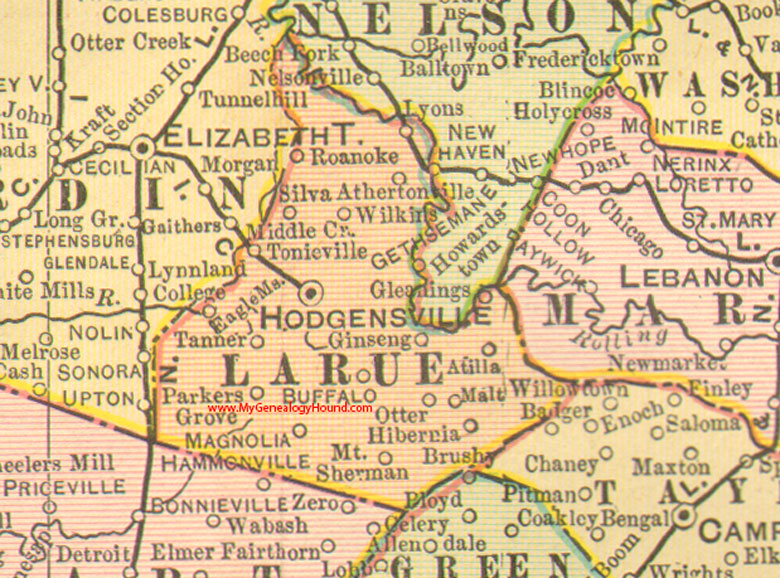 Larue County, Kentucky 1905 Map Hodgensville, KY on map indiana and chicago, map of kentucky and ohio, map of kentucky and major cities, map of kentucky and north carolina, map of kentucky and lexington, map of kentucky and united states,
