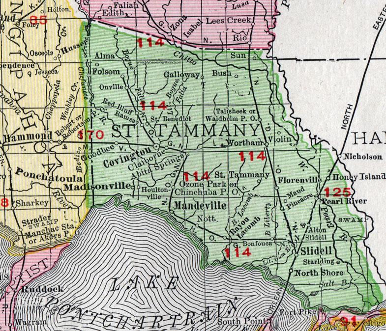 Slidell Map on