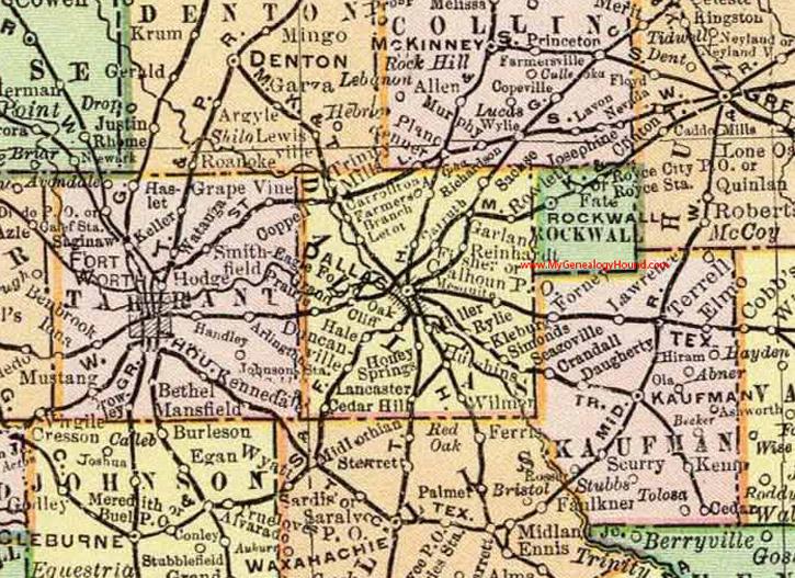 Map Of Texas Dallas Area.Dallas County Texas 1897 Map