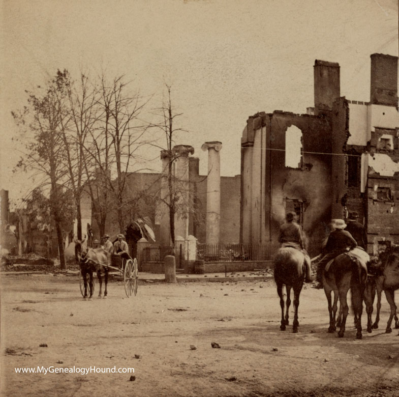 Image result for the burning of chambersburg photos