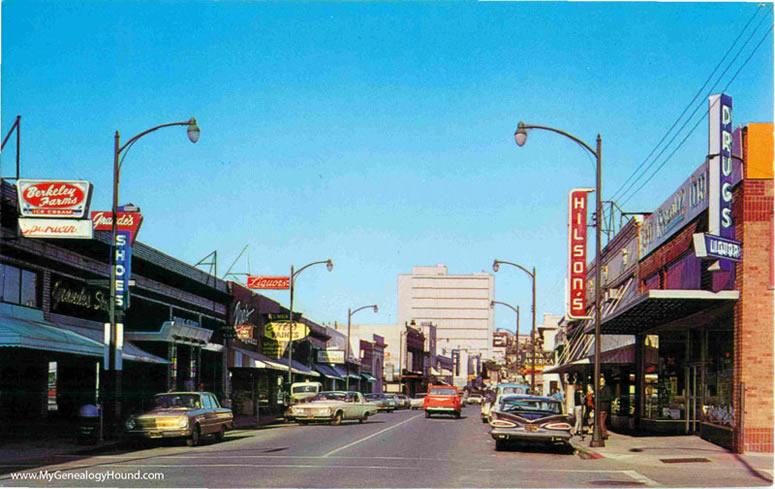Martinez California Main Street Vintage Postcard Vintage Postcard Historic Photo