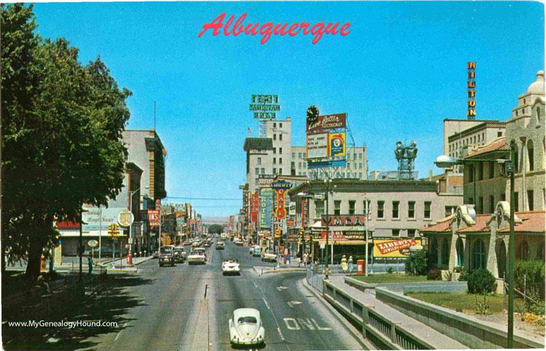 Perfect Albuquerque, New Mexico, Central Avenue looking West, vintage  GT38